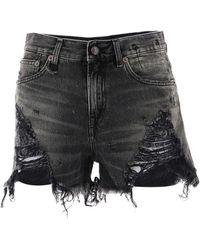 R13 Women's W0190589 Black Cotton Shorts