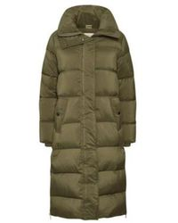 Part Two Storm Coat (beech) - Green