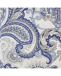 Etro Paisley-print Polo Shirt - Blue