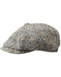 Stetson Hatteras Donegal Virgin Wool Flat Cap - Blue/beige - Multicolour