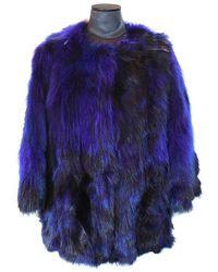 FRAME Bluette Fox And Marmot Fur Coat