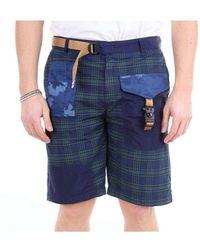 White Sand 20su58291ptblunavy Cotton Shorts - Blue