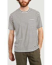 NN07 Kurt T-shirt Navy Stripes No Nationality 07 - Blue