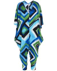 Gianluca Capannolo Women's 21ep44435011976110112 Light Blue Silk Jumpsuit