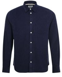 Norse Projects Osvald Courduroy Shirt Navy - Blue