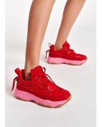 Essentiel Antwerp Antwerp /pink Sneakers - Red