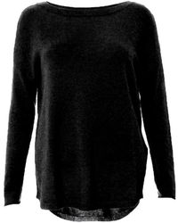 Duffy Simple Cashmere Sweater - Black