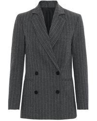 2nd Day Brook Pinstripe Jacket - Grey