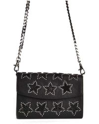 Ash - Kriss Star Wallet In Black Leather & Silver Studs - Lyst