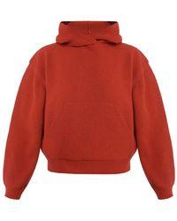 Nanushka Knit Hoodie - Red