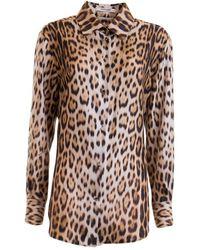 Roberto Cavalli Animalier Shirt - Multicolour