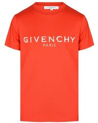 Givenchy Kids Distressed Logo Tee - Red