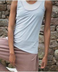 Beaumont Organic Catori Organic Cotton Yoga Top In - Grey