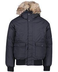 Pyrenex Mens Mistral Fur Jacket - Blue