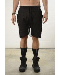 Thom Krom Linen Shorts Black Colour: Black,
