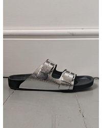 Étoile Isabel Marant Lennyo Metallic Silver Sandals