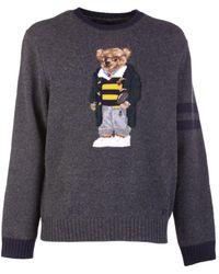 Ralph Lauren Sweater Bear Gray