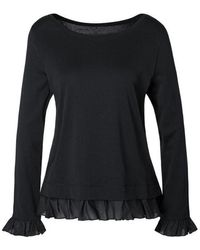 Marc Cain Collections Top In Black Lc 48.11 J14