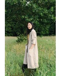 Beaumont Organic Ss20 Abbey Linen Jacket In Natural - Green