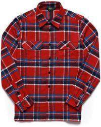 Sebago Swan L/s Check Shirt Check - Red
