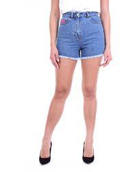 Gcds Shorts Mini Jeans - Blue