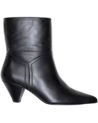 Henry Kole Selena Leather Black