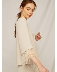 Caractere Caractã ̈re Top With Feathers 2057ao 093t - Natural