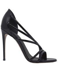 Le Silla Women's 8537q100r1ppka8001 Black Leather Sandals
