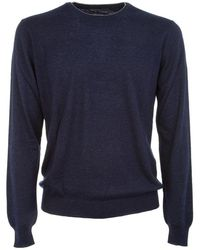 Ones Men's 60m851150455 Blue Cashmere Sweater