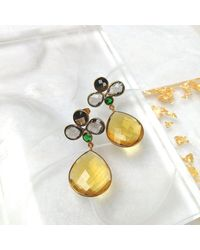 Fortune Jewellery London - Daphne Citrine Quartz Earrings - Lyst