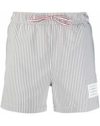 Thom Browne Men's Mtt001e07318035 Gray Polyester Trunks