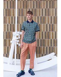 Henrik Vibskov Beam Pants - Orange - Blue
