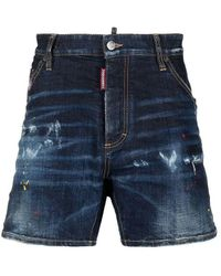 DSquared² Men's Jeans Bermuda - Blue