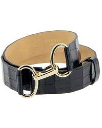 Herbert Frère Soeur Herbert Chanzy Croco Belt - Black