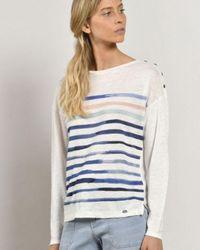 Mat De Misaine Marilou Stripe Top - Multicolor