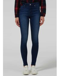 Donna Ida Rizzo High Top Ankle Skinny Jeans - Fawcett - Blue