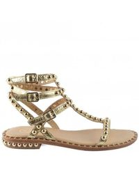 Ash Outlet Play Strappy Studded Sandal Colour: Gold - Metallic