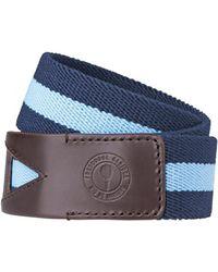 Frescobol Carioca Stripe Belt Navy Blue & Baby Blue