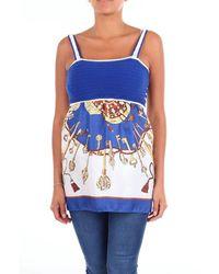 Altea Top Uncovered Shoulders Women Blue Fantasy