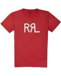 RRL by RALPH LAUREN Rrl Logo Jersey T-shirt - Red