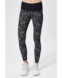 Varley Estrella legging - Peach Floral - Black