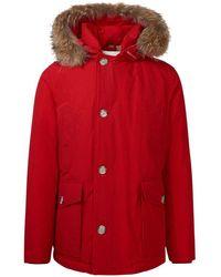 Woolrich Men's Woou0272mrut0001msc Red Cotton Outerwear Jacket