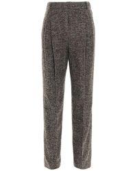 Agnona Women's T70008q1021064 Multicolour Trousers - Grey