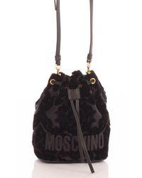 Moschino Bucket Velvet - Black