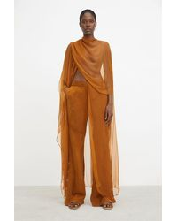 Rodebjer Nevaeh Drapy Trousers - Brown