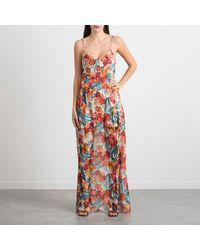 "Patrizia Pepe Long Dress Print ""jungle"" - White"