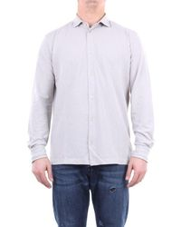 Zanone Leather Shirt - Brown