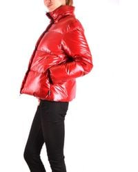 Duvetica - Red Polyester Down Jacket - Lyst