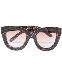 SELECTED - Thick Framed Sunglasses In Pink - Lyst