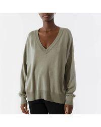 Twist & Tango Lara V-neck Sweater - Dusk Khaki - Green